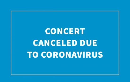 Concert Canceled Due to Coronavirus