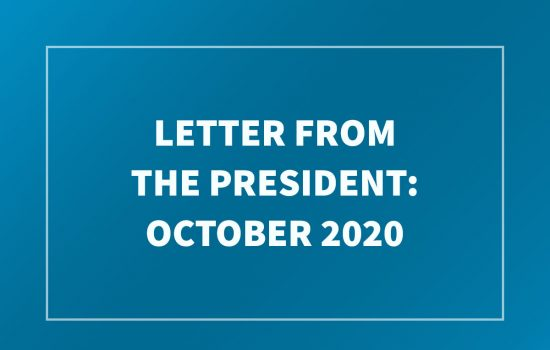Letter from the President - October 2020