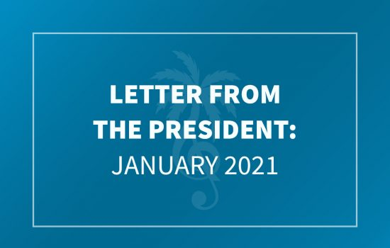 Letter from the President - January 2021